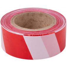 Лента сигнальная оградительная красно-белая (75мм х 100м)