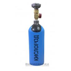 Баллон кислород (2л) НОВЫЙ, вентиль ВК-94-01, вых.G3/4, дно плоское