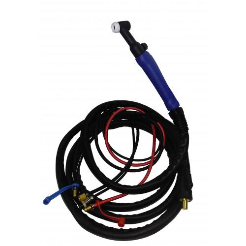 Горелка аргонодуговая TIG WP-18 FXV (350A, 4m, кнопка, вентиль) водяное охлаждение