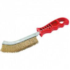 Щетка для зачистки (ручная) латунь c пласт.ручкой