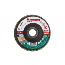 Круг лепестковый торцевой (КЛТ) HAMMER Ф125х22/P40