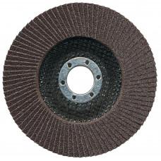 Круг лепестковый торцевой 125 мм/P120 КЛТ № 324 кальцинир оксид алюминия, 72 сегмента по стали