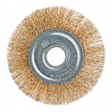 Щетка металлическая для УШМ 150/22мм. плоская (латунь)
