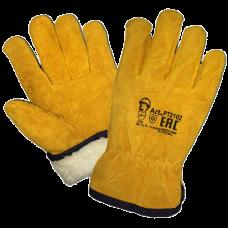 Перчатки цельноспилковые «Драйвер» (искусственный мех)